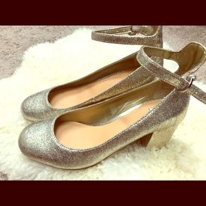 BP gold Mary Janes